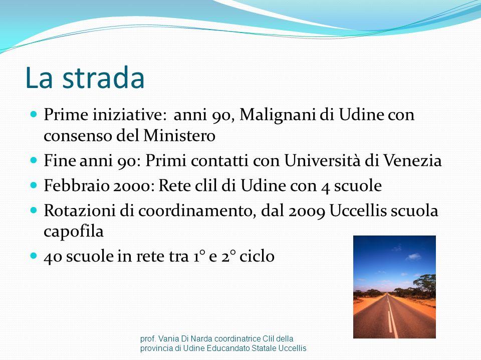 Lesperienza delle reti in Friuli Venezia Giulia prof. Vania Di Narda coordinatrice Clil della provincia di Udine Educandato Statale Uccellis