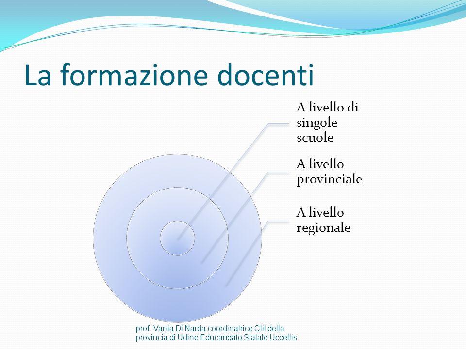 Le attività della rete Formazione docenti Riunioni di coordinamento, organizzazione, condivisione Ricerca di finanziamenti (interni ed esterni alla rete) Suddivisione in sottoreti e sovrareti prof.