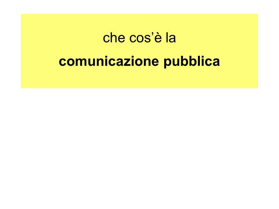che cosè la comunicazione pubblica