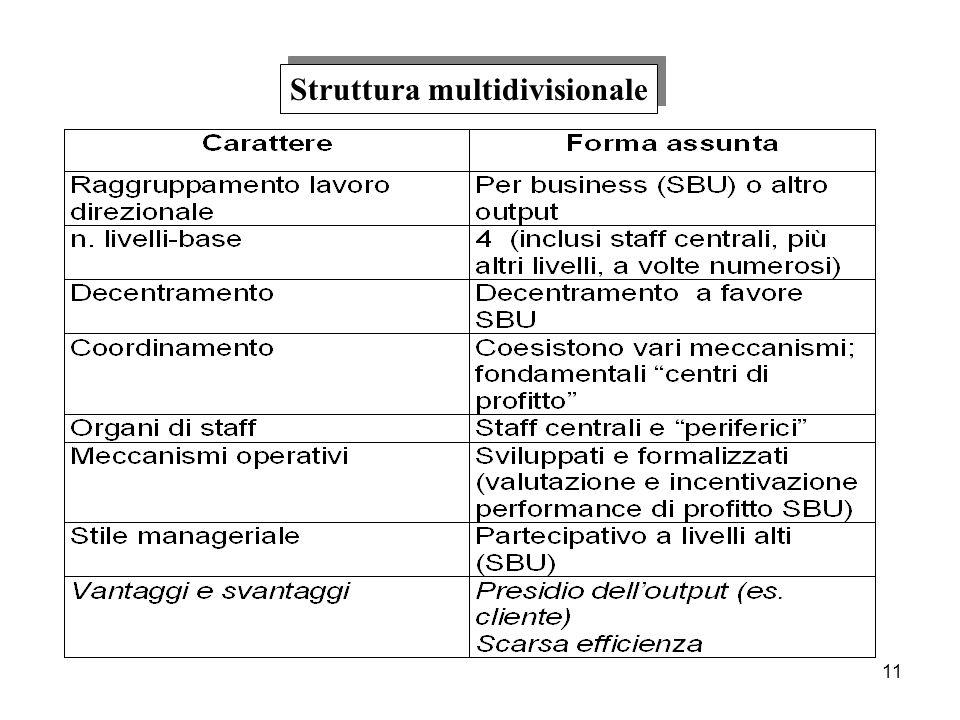 11 Struttura multidivisionale