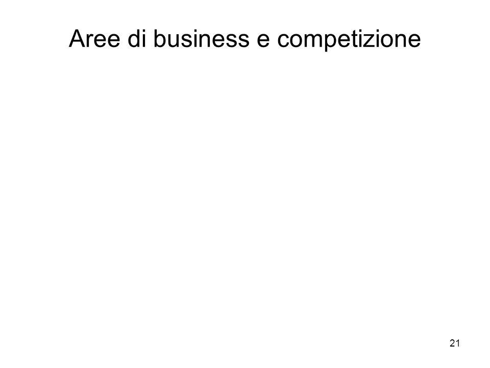 21 Aree di business e competizione