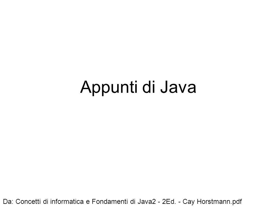 Appunti di Java Da: Concetti di informatica e Fondamenti di Java2 - 2Ed. - Cay Horstmann.pdf