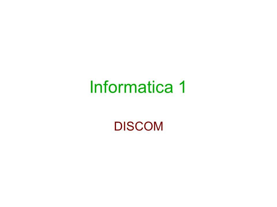 Informatica 1 DISCOM