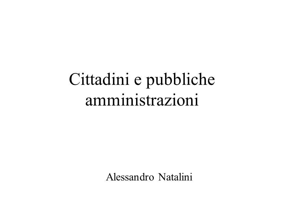 Cittadini e pubbliche amministrazioni Alessandro Natalini