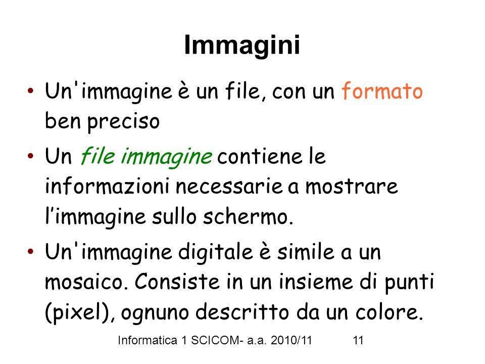 Informatica 1 SCICOM- a.a.