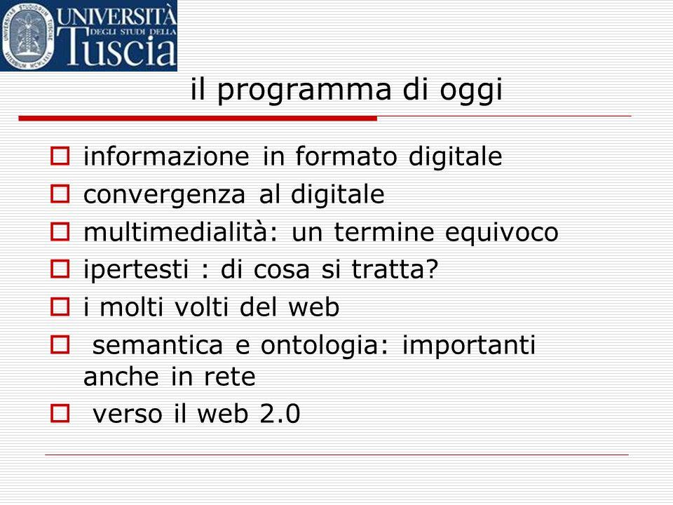 fondamenti della comunicazione digitale Gino Roncaglia (Università della Tuscia)