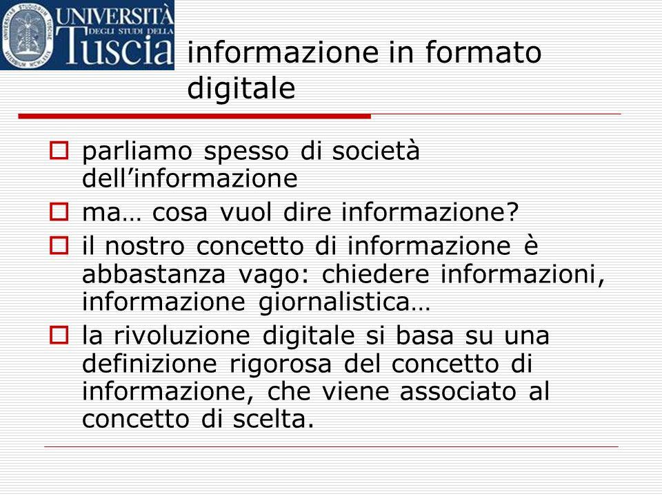 il programma di oggi informazione in formato digitale convergenza al digitale multimedialità: un termine equivoco ipertesti : di cosa si tratta? i mol
