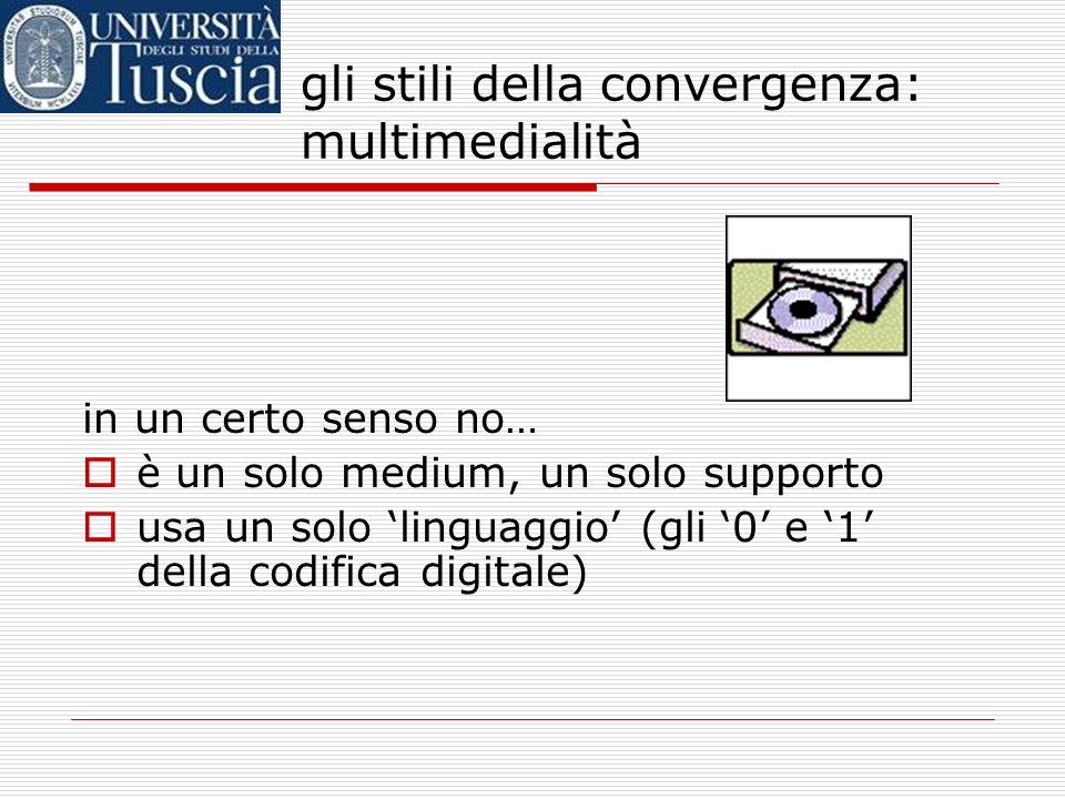 un termine ambiguo il CD Rom (o il DVD) è considerato il prodotto multimediale per eccellenza ma… è davvero multimediale, un CD- ROM? gli stili della