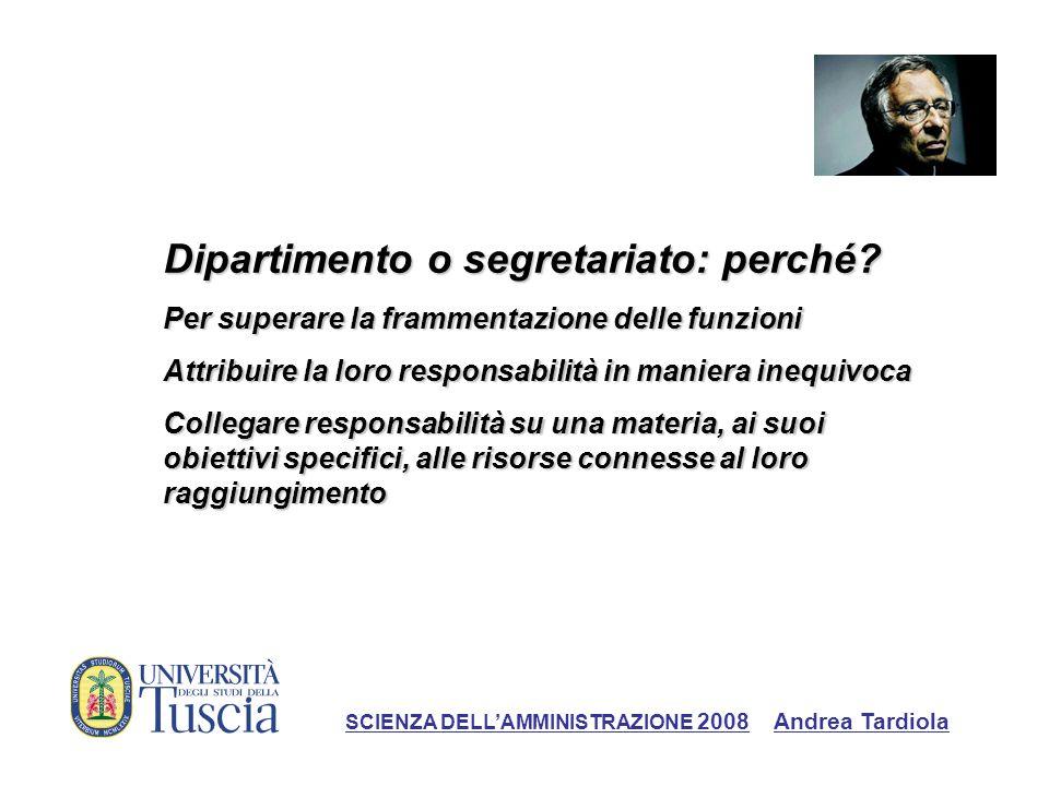 Riorganizzare lamministrazione periferica dello Stato: il fallimento degli uffici territoriali di governo SCIENZA DELLAMMINISTRAZIONE 2008 Andrea Tardiola
