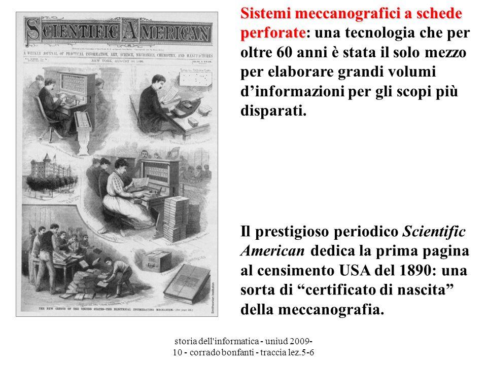 storia dell'informatica - uniud 2009- 10 - corrado bonfanti - traccia lez.5-6 Il prestigioso periodico Scientific American dedica la prima pagina al c