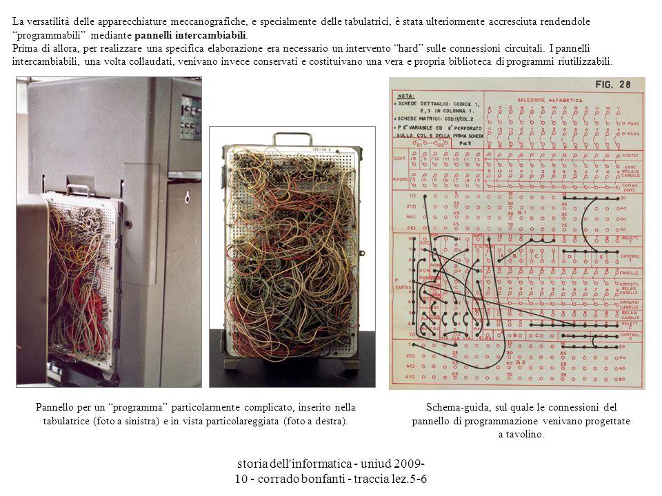 storia dell'informatica - uniud 2009- 10 - corrado bonfanti - traccia lez.5-6 Pannello per un programma particolarmente complicato, inserito nella tab
