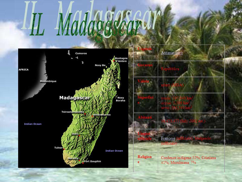Il Madagascar è uno stato insulare dell Oceano Indiano, al largo della costa dellAfrica Orientale, di fronte al Mozambico.