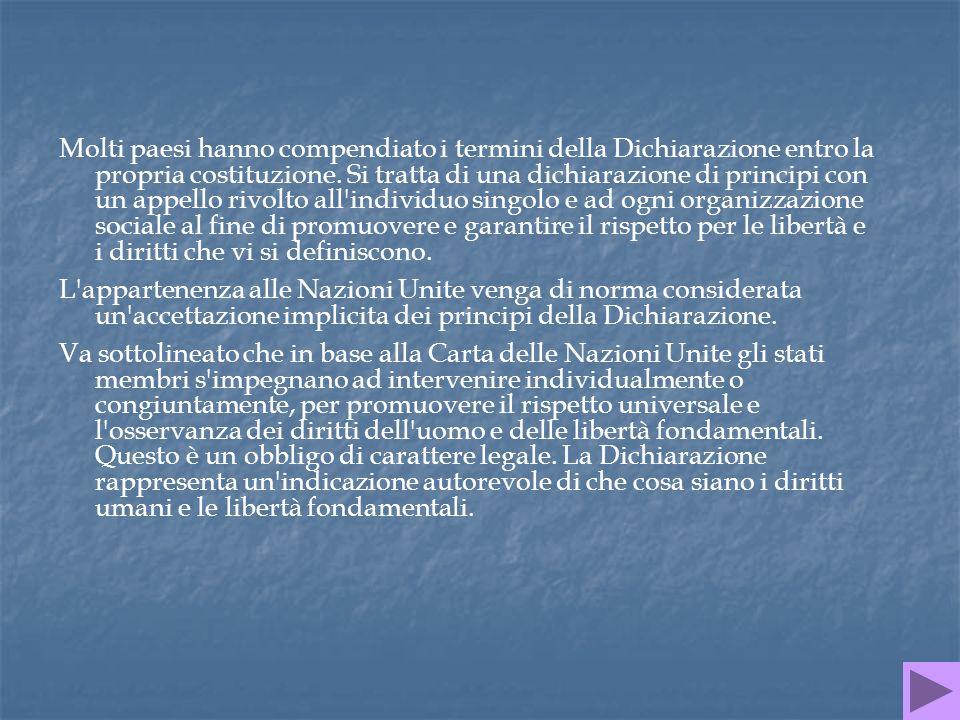 DIRITTO DI UGUAGLIANZA Art.