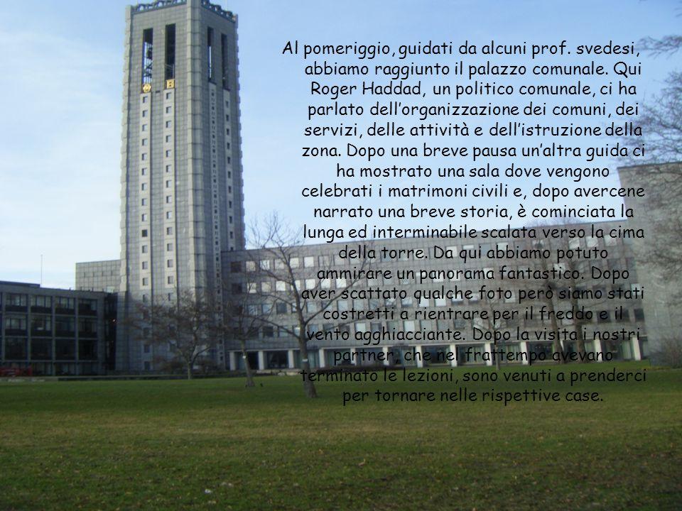 Al pomeriggio, guidati da alcuni prof.svedesi, abbiamo raggiunto il palazzo comunale.