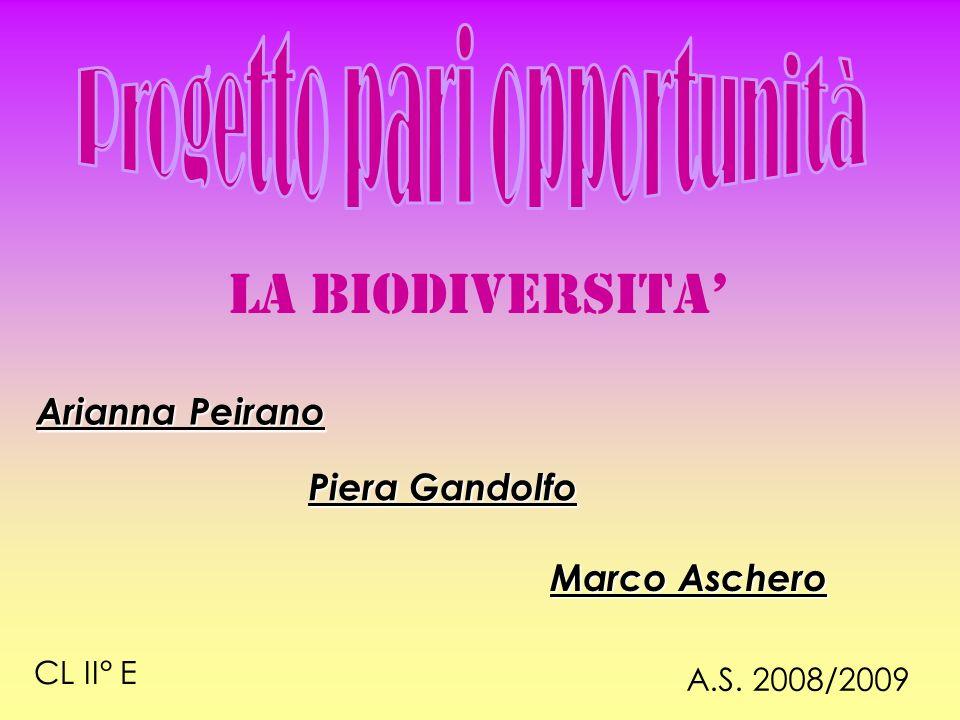 LA BIODIVERSITA A.S. 2008/2009 CL II° E Marco Aschero Piera Gandolfo Arianna Peirano