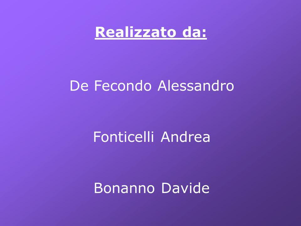 Realizzato da: De Fecondo Alessandro Fonticelli Andrea Bonanno Davide