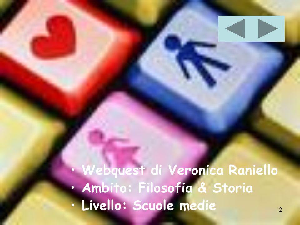 2 Webquest di Veronica Raniello Ambito: Filosofia & Storia Livello: Scuole medie
