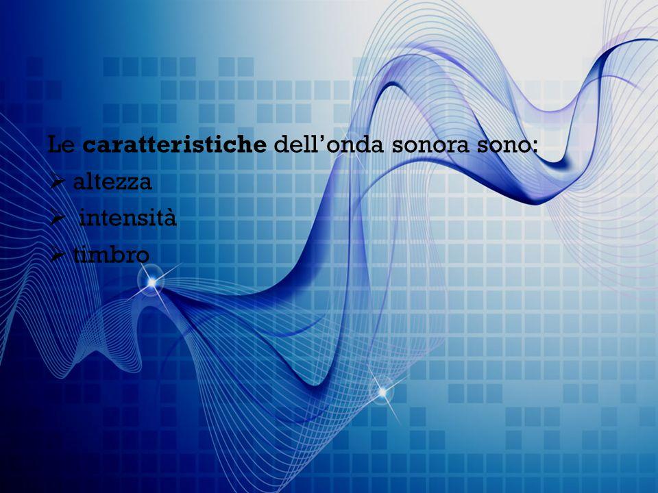 Le onde sonore possono essere suddivise in base alla frequenza, cioè in: suoni (20-20 000 Hz) ultrasuoni (frequenza superiore a 20 000 Hz) infrasuoni