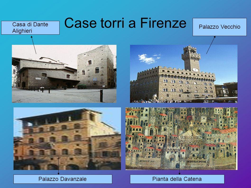 Case torri a Firenze Palazzo DavanzalePianta della Catena Casa di Dante Alighieri Palazzo Vecchio