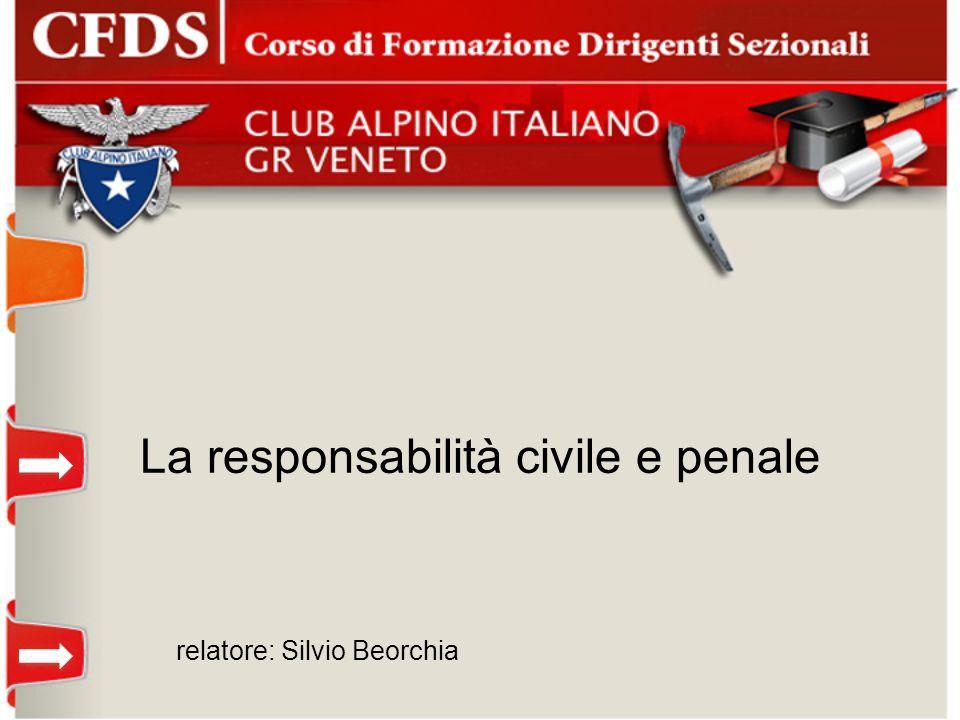 La responsabilità civile e penale relatore: Silvio Beorchia