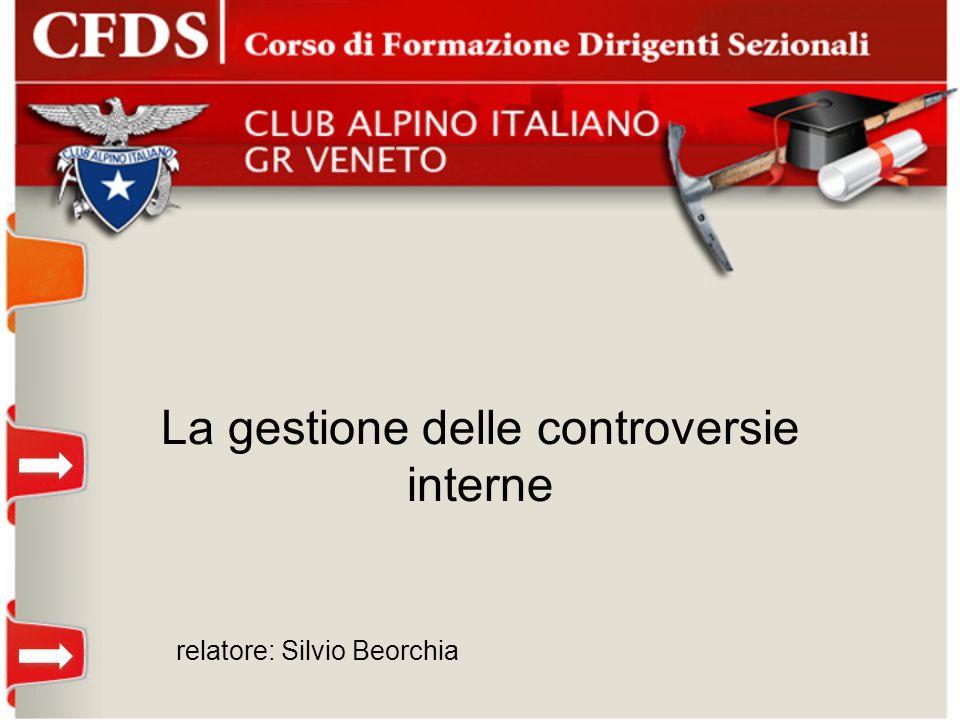 La gestione delle controversie interne relatore: Silvio Beorchia