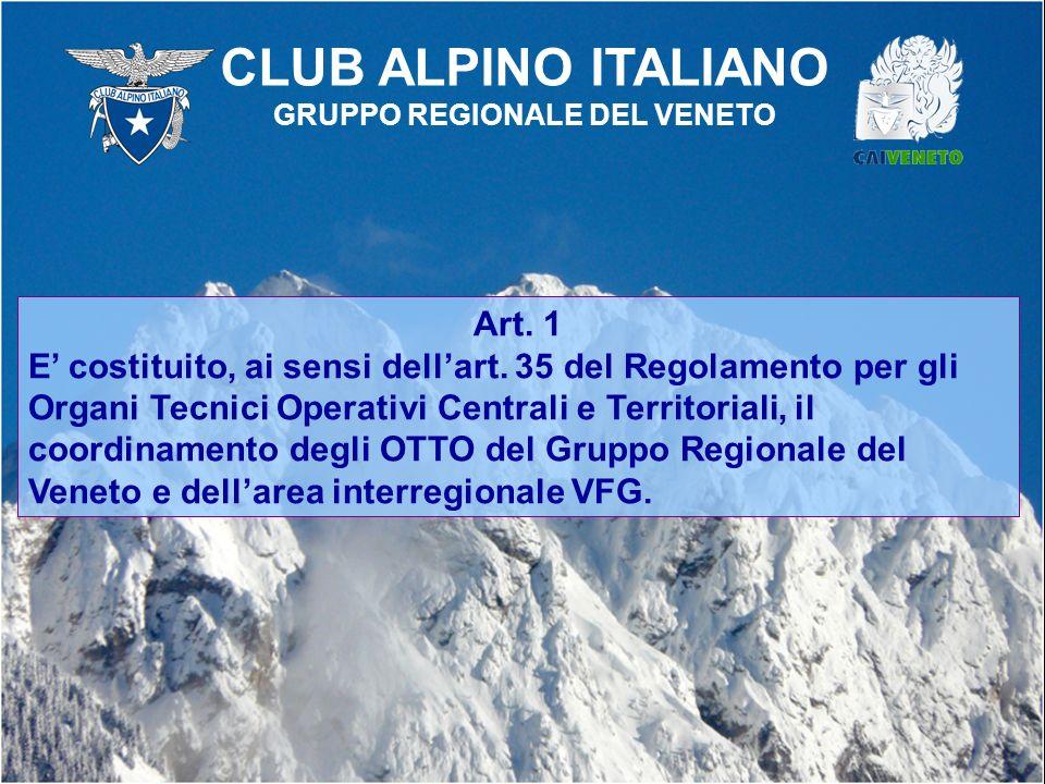 Art. 1 E costituito, ai sensi dellart. 35 del Regolamento per gli Organi Tecnici Operativi Centrali e Territoriali, il coordinamento degli OTTO del Gr