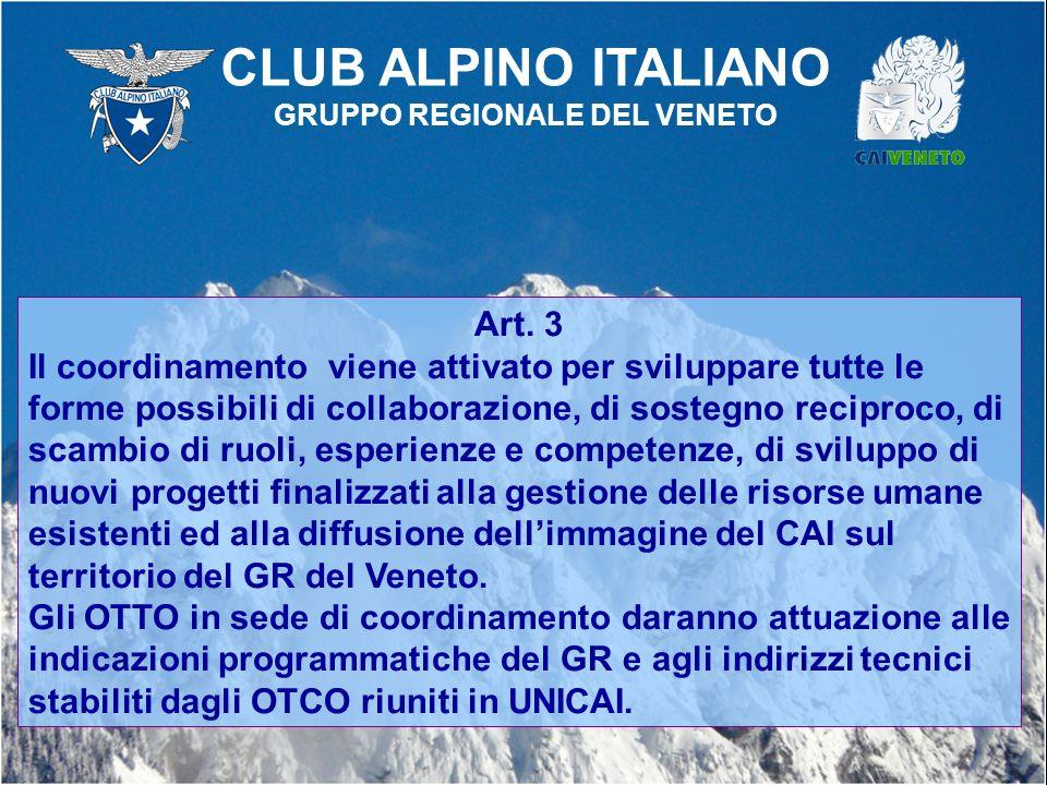 Art. 3 Il coordinamento viene attivato per sviluppare tutte le forme possibili di collaborazione, di sostegno reciproco, di scambio di ruoli, esperien