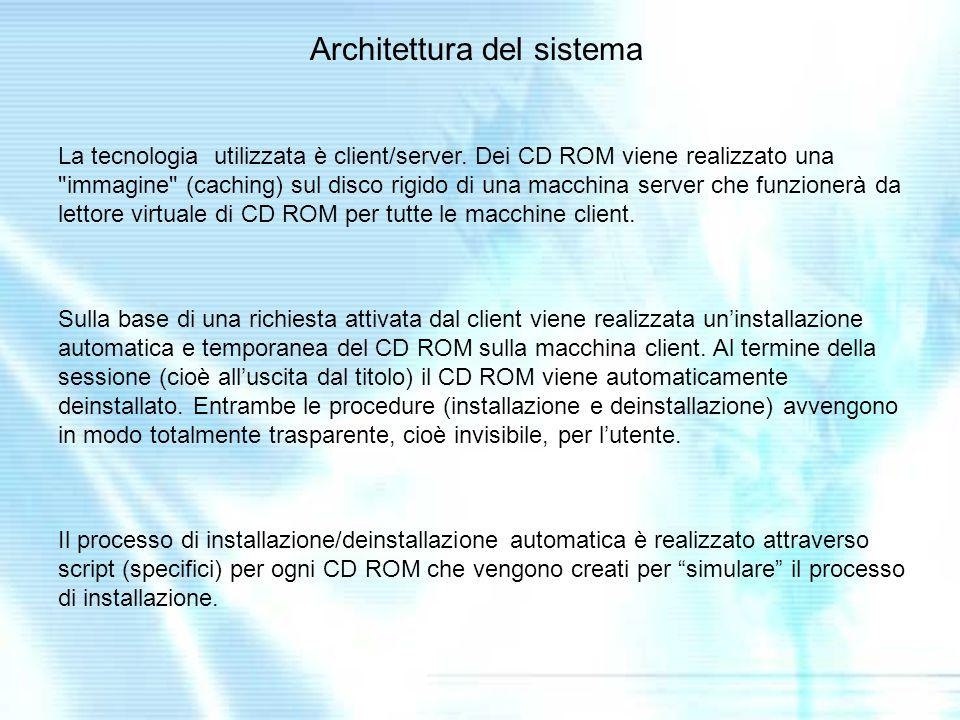 La tecnologia utilizzata è client/server.