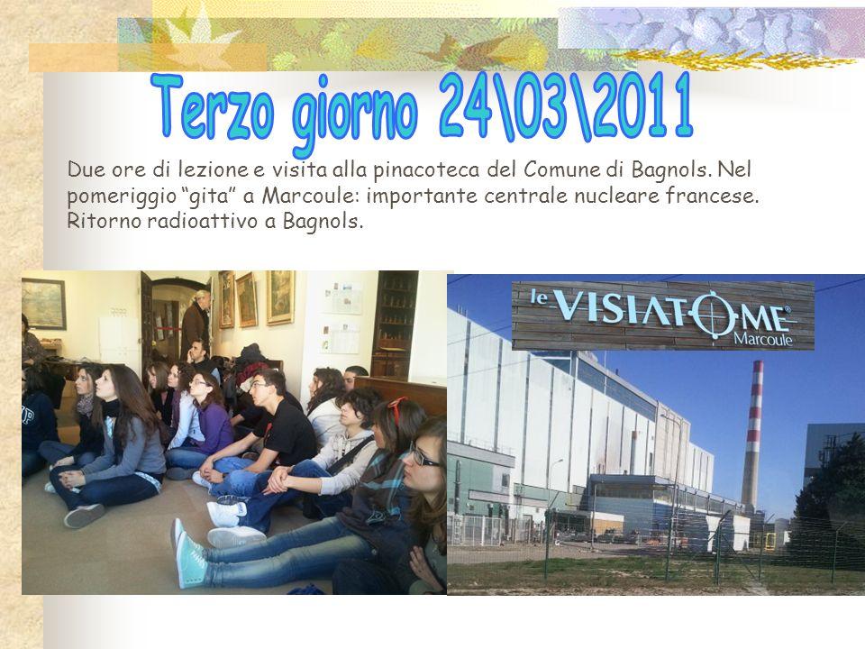 Due ore di lezione e visita alla pinacoteca del Comune di Bagnols.