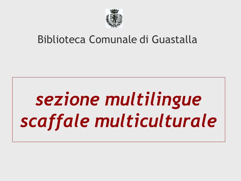 sezione multilingue scaffale multiculturale Biblioteca Comunale di Guastalla
