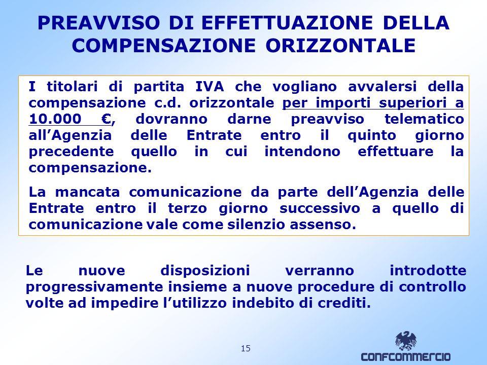 14 LAgenzia delle Entrate può, su istanza motivata, concedere una deroga allobbligo in esame, qualora siano riconosciute difficoltà da parte degli intermediari nellespletamento delle attività di comunicazione degli esiti delle liquidazioni delle dichiarazioni.