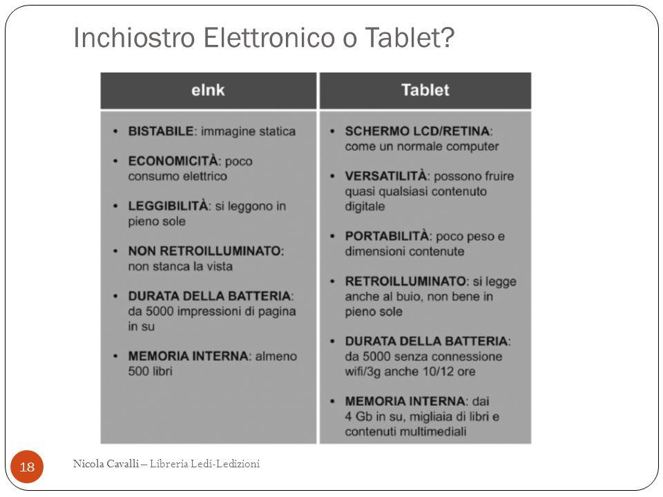 Inchiostro Elettronico o Tablet? 18 Nicola CavalliNicola Cavalli – Libreria Ledi-Ledizioni