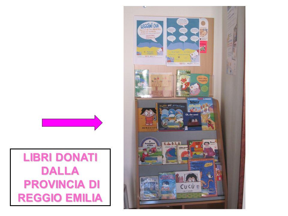 LIBRI DONATI DALLA PROVINCIA DI REGGIO EMILIA PROVINCIA DI REGGIO EMILIA