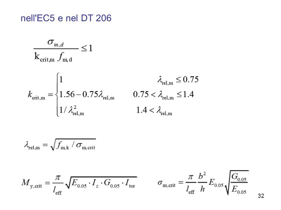 32 nell'EC5 e nel DT 206