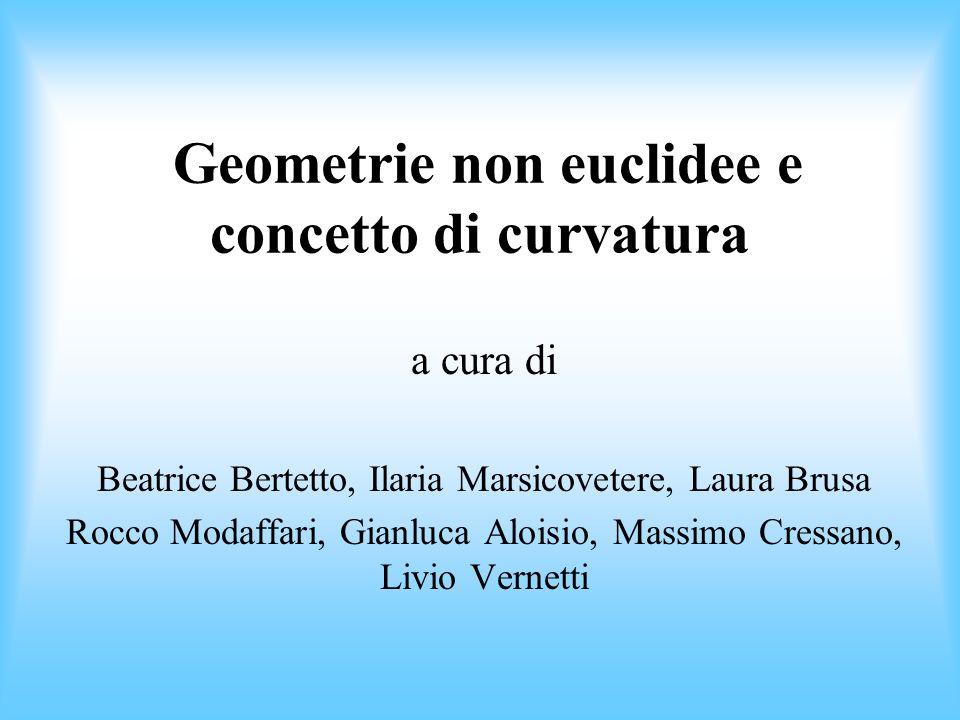 Geometrie non euclidee e concetto di curvatura a cura di Beatrice Bertetto, Ilaria Marsicovetere, Laura Brusa Rocco Modaffari, Gianluca Aloisio, Massi