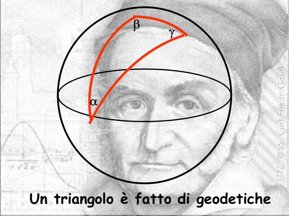 Un triangolo è fatto di geodetiche