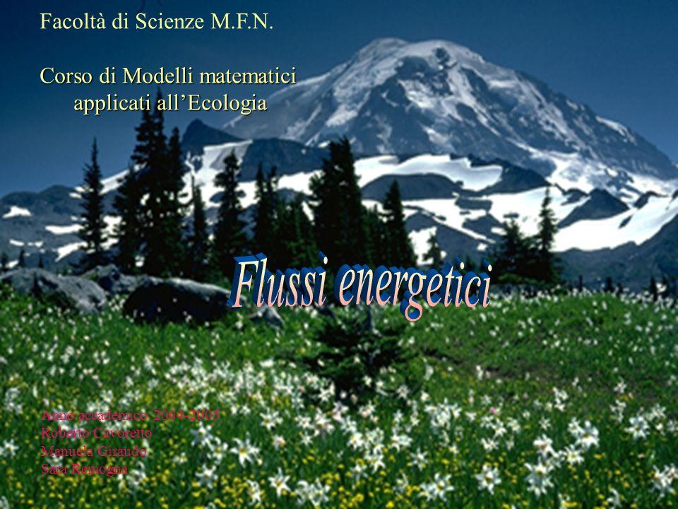 Facoltà di Scienze M.F.N. Corso di Modelli matematici applicati allEcologia applicati allEcologia Anno accademico 2004-2005 Roberto Cavoretto Manuela