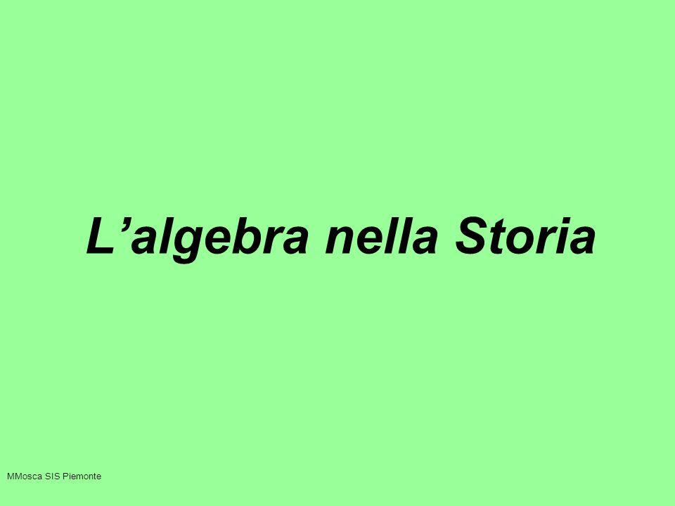 Lalgebra nella Storia MMosca SIS Piemonte