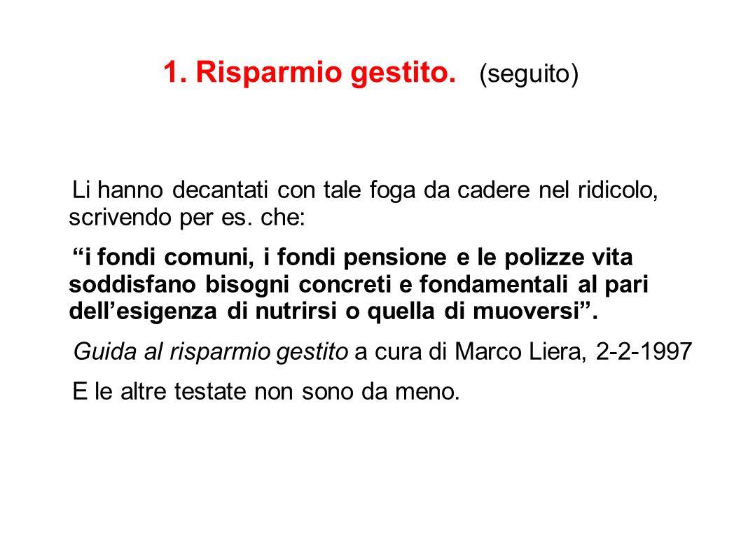 COSE STORTE NEL GIORNALISMO ECONOMICO 1.