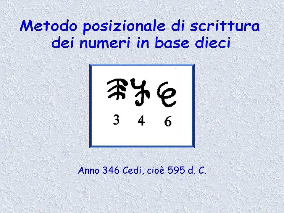 Anno 346 Cedi, cioè 595 d. C.