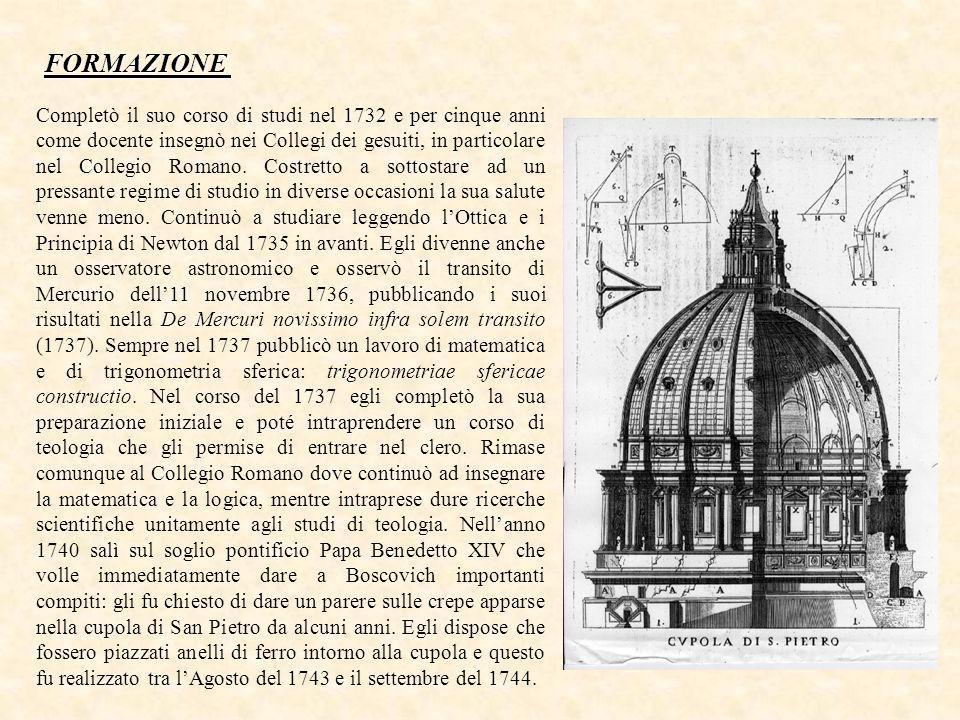 Completò il suo corso di studi nel 1732 e per cinque anni come docente insegnò nei Collegi dei gesuiti, in particolare nel Collegio Romano.