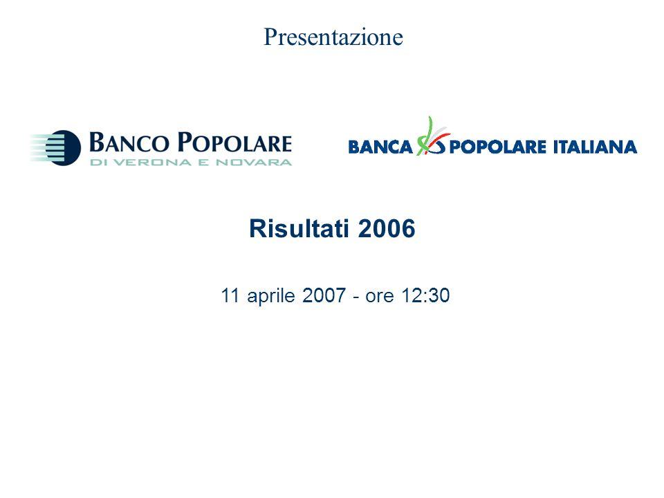 0 Presentazione 11 aprile 2007 - ore 12:30 Risultati 2006