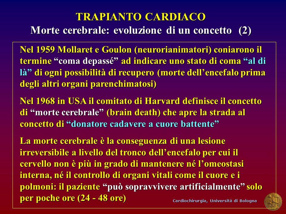 Cardiochirurgia, Università di Bologna Nel 1959 Mollaret e Goulon (neurorianimatori) coniarono il termine coma depassé ad indicare uno stato di coma a