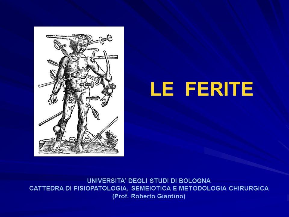 LE FERITE UNIVERSITA DEGLI STUDI DI BOLOGNA CATTEDRA DI FISIOPATOLOGIA, SEMEIOTICA E METODOLOGIA CHIRURGICA (Prof. Roberto Giardino)