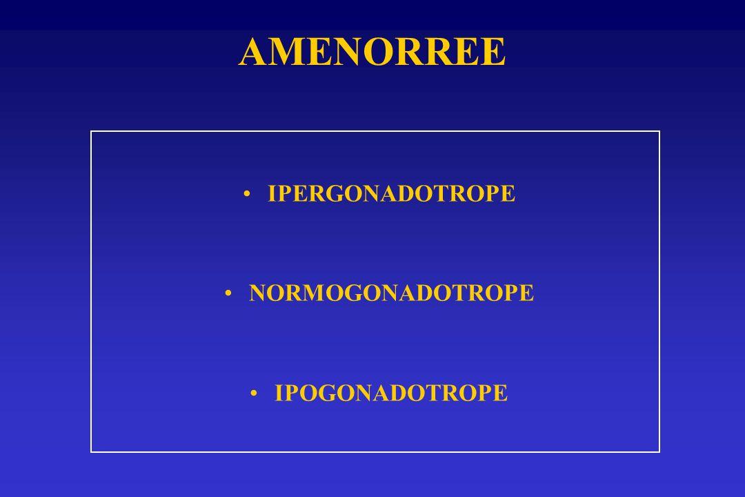 IPERGONADOTROPE NORMOGONADOTROPE IPOGONADOTROPE AMENORREE
