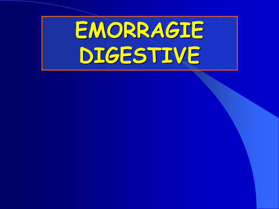 Non si tratta di una malattia ma di vari processi morbosi Non si tratta di una malattia ma di vari processi morbosi Emorragie Digestive EMORRAGIE DIGESTIVE CONSIDERAZIONI GENERALI Si tratta di una problematica abbastanza frequente, con un tasso di mortalità di circa il 10% Si tratta di una problematica abbastanza frequente, con un tasso di mortalità di circa il 10% Lemorragia può essere da acuta e massiva a lieve, subclinica Lemorragia può essere da acuta e massiva a lieve, subclinica Una tempestiva valutazione rappresenta lelemento critico per un appropriato trattamento Una tempestiva valutazione rappresenta lelemento critico per un appropriato trattamento