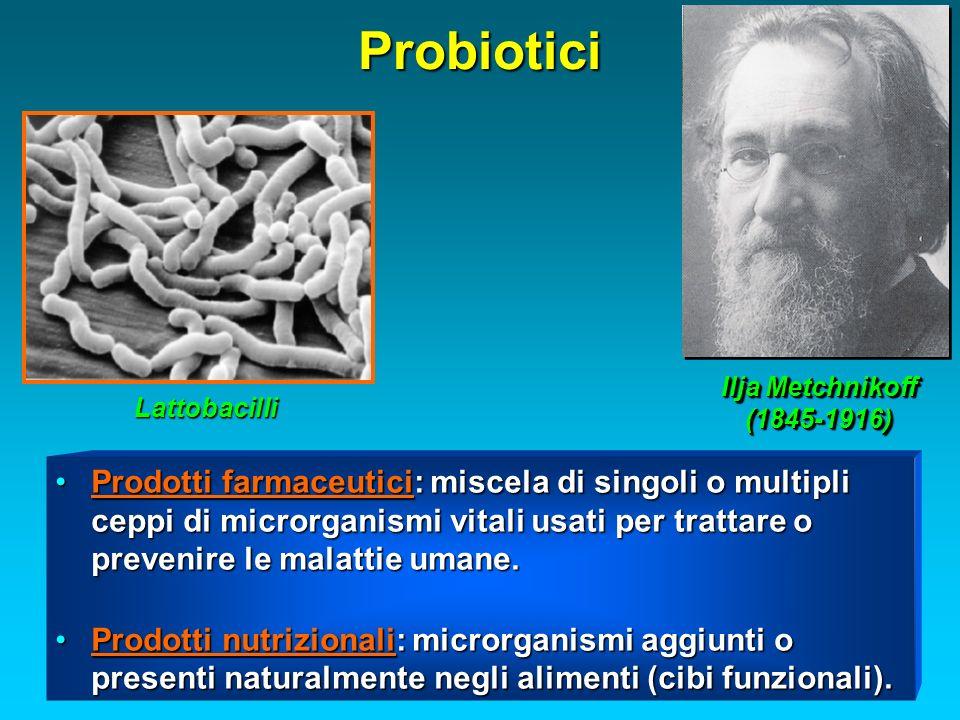 Probiotici Prodotti farmaceutici: miscela di singoli o multipli ceppi di microrganismi vitali usati per trattare o prevenire le malattie umane.Prodotti farmaceutici: miscela di singoli o multipli ceppi di microrganismi vitali usati per trattare o prevenire le malattie umane.