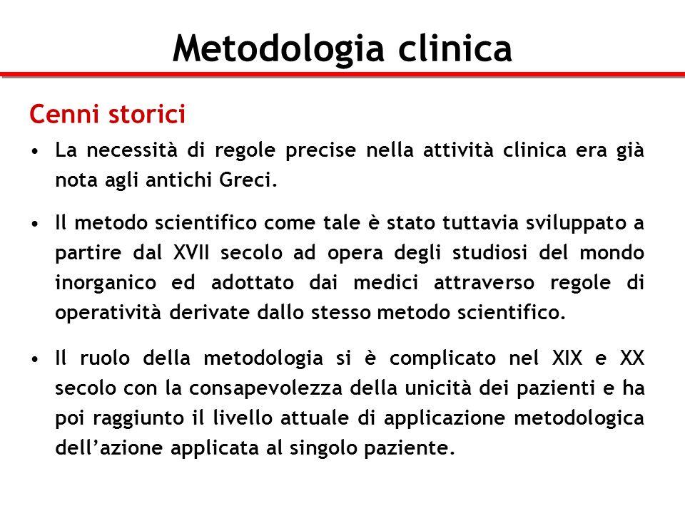 Metodologia clinica Metodologia vs.Semeiotica Le due discipline sono spesso erroneamente confuse.