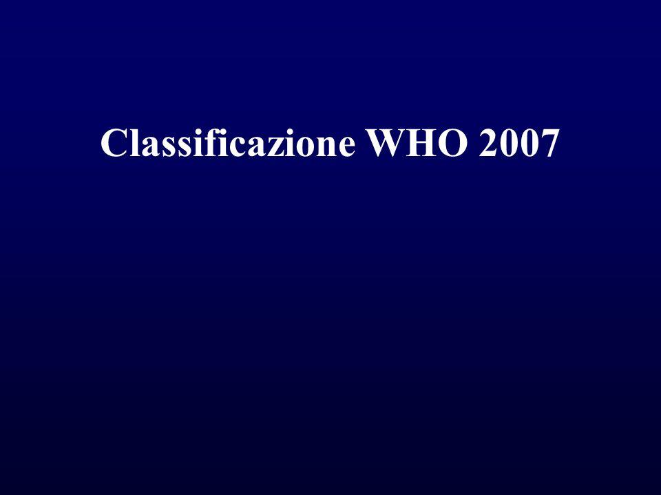 Classificazione WHO 2007