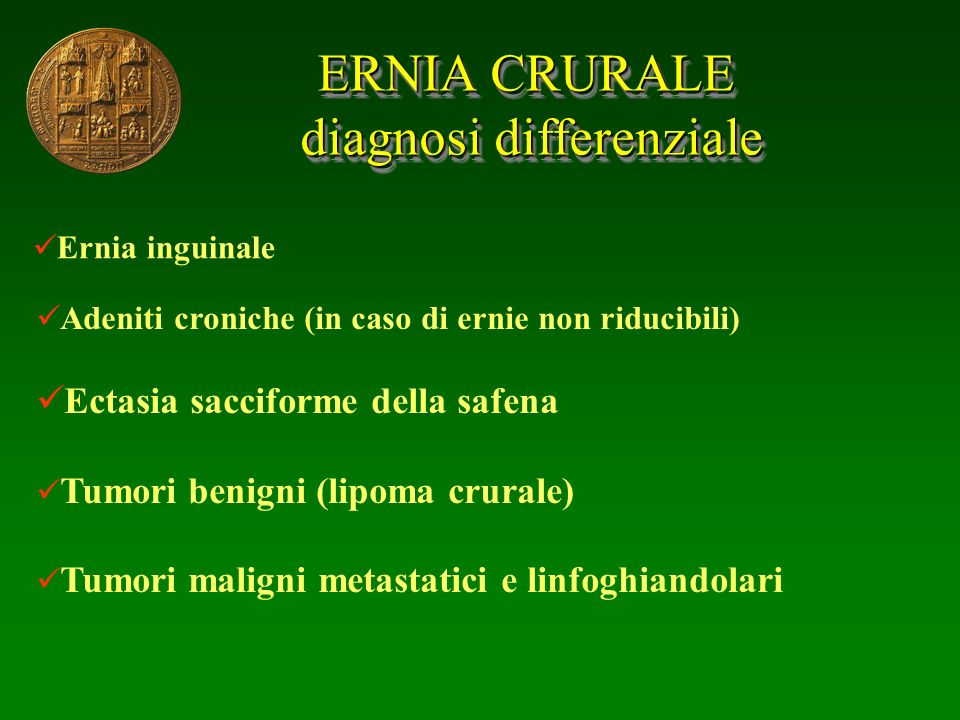 ERNIA CRURALE diagnosi differenziale diagnosi differenziale ERNIA CRURALE diagnosi differenziale diagnosi differenziale Ernia inguinale Adeniti cronic